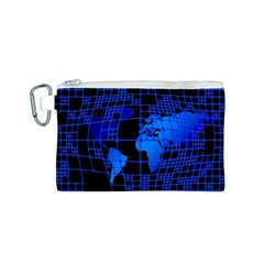 Network Networking Europe Asia Canvas Cosmetic Bag (S)