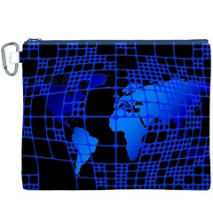 Network Networking Europe Asia Canvas Cosmetic Bag (xxxl)