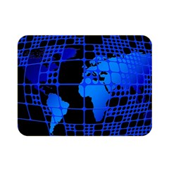 Network Networking Europe Asia Double Sided Flano Blanket (mini)