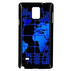 Network Networking Europe Asia Samsung Galaxy Note 4 Case (black)