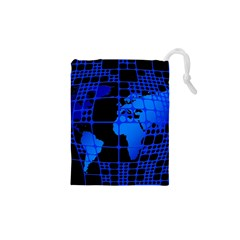 Network Networking Europe Asia Drawstring Pouches (xs)