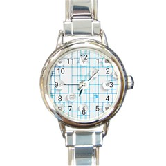 Icon Media Social Network Round Italian Charm Watch