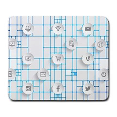 Icon Media Social Network Large Mousepads