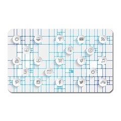 Icon Media Social Network Magnet (rectangular)