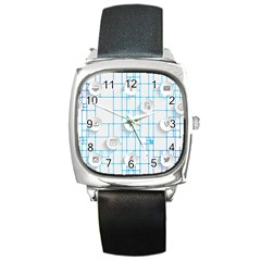 Icon Media Social Network Square Metal Watch