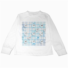 Icon Media Social Network Kids Long Sleeve T Shirts