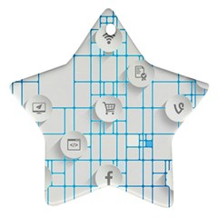 Icon Media Social Network Star Ornament (two Sides)