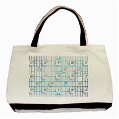 Icon Media Social Network Basic Tote Bag (two Sides)
