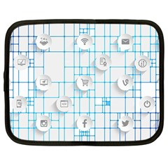 Icon Media Social Network Netbook Case (Large)