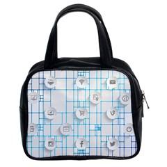 Icon Media Social Network Classic Handbags (2 Sides)