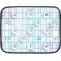 Icon Media Social Network Double Sided Fleece Blanket (Mini)