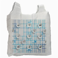 Icon Media Social Network Recycle Bag (one Side)