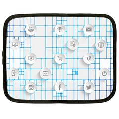 Icon Media Social Network Netbook Case (xl)