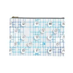 Icon Media Social Network Cosmetic Bag (Large)