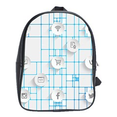 Icon Media Social Network School Bags(large)