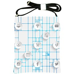 Icon Media Social Network Shoulder Sling Bags
