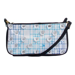 Icon Media Social Network Shoulder Clutch Bags