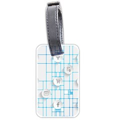Icon Media Social Network Luggage Tags (Two Sides)