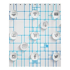 Icon Media Social Network Shower Curtain 60  X 72  (medium)