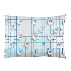 Icon Media Social Network Pillow Case (two Sides)