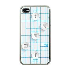 Icon Media Social Network Apple Iphone 4 Case (clear)