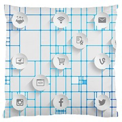 Icon Media Social Network Large Cushion Case (one Side)
