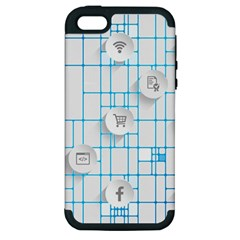 Icon Media Social Network Apple Iphone 5 Hardshell Case (pc+silicone)