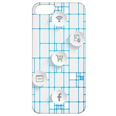 Icon Media Social Network Apple Iphone 5 Classic Hardshell Case