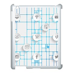 Icon Media Social Network Apple Ipad 3/4 Case (white)
