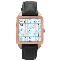 Icon Media Social Network Rose Gold Leather Watch