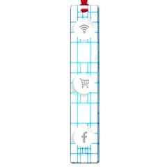 Icon Media Social Network Large Book Marks