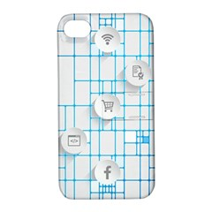 Icon Media Social Network Apple iPhone 4/4S Hardshell Case with Stand