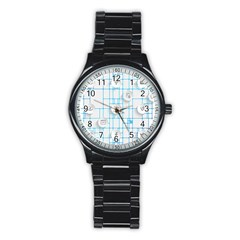 Icon Media Social Network Stainless Steel Round Watch