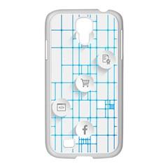 Icon Media Social Network Samsung Galaxy S4 I9500/ I9505 Case (white)