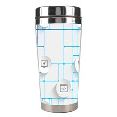 Icon Media Social Network Stainless Steel Travel Tumblers