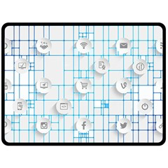 Icon Media Social Network Double Sided Fleece Blanket (large)