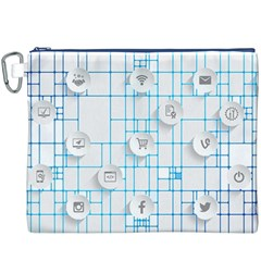 Icon Media Social Network Canvas Cosmetic Bag (xxxl)
