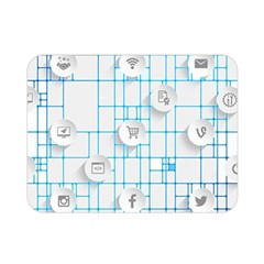 Icon Media Social Network Double Sided Flano Blanket (mini)