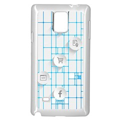 Icon Media Social Network Samsung Galaxy Note 4 Case (white)