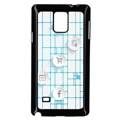 Icon Media Social Network Samsung Galaxy Note 4 Case (Black)