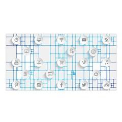 Icon Media Social Network Satin Shawl