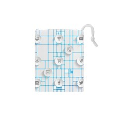 Icon Media Social Network Drawstring Pouches (xs)