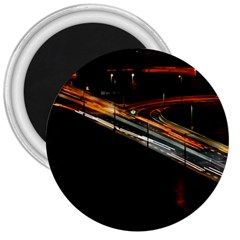 Highway Night Lighthouse Car Fast 3  Magnets