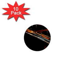 Highway Night Lighthouse Car Fast 1  Mini Magnet (10 Pack)