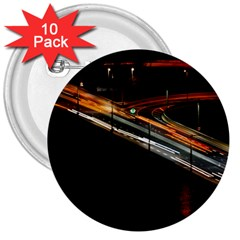 Highway Night Lighthouse Car Fast 3  Buttons (10 Pack)