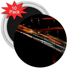 Highway Night Lighthouse Car Fast 3  Magnets (10 Pack)