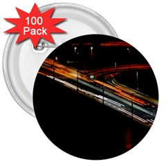 Highway Night Lighthouse Car Fast 3  Buttons (100 pack)
