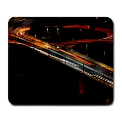 Highway Night Lighthouse Car Fast Large Mousepads