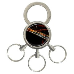 Highway Night Lighthouse Car Fast 3-Ring Key Chains