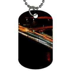 Highway Night Lighthouse Car Fast Dog Tag (one Side)